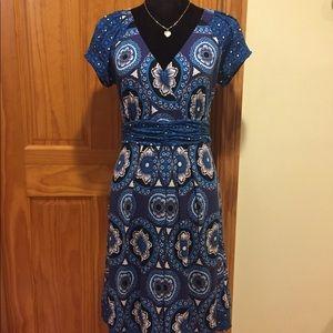 Multi blue dress by ECI of NY.
